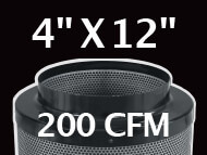 Black Ops Filter 4 inches by 12 inches 200 CFM