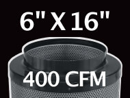 Black Ops Filter 6 inches by 16 inches 400 CFM