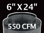 Black Ops Filter 6 inches by 24 inches 550 CFM