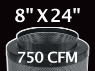 Black Ops Filter 8 inches by 24 inches 750 CFM