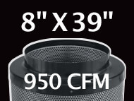 Black Ops Filter 8 inches by 39 inches 950 CFM