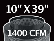 Black Ops Filter 10 inches by 39 inches 1400 CFM