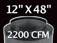Black Ops Filter 12 inches by 48 inches 2200 CFM