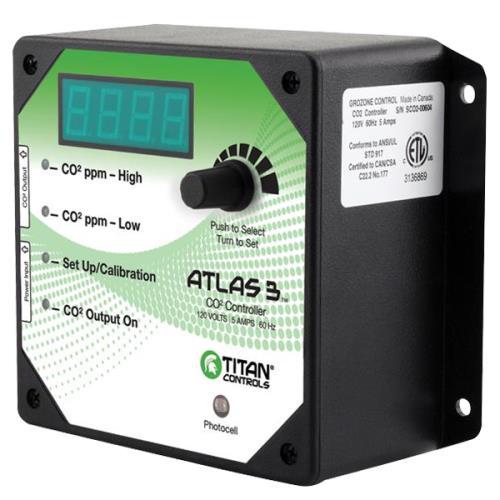 Titan Controls® Atlas® 3 - Day/Night CO2 Monitor/Controller
