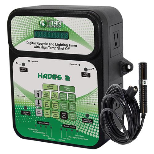 Titan Controls® Hades® 2 - Digital Recycle and Light Timer with High Temp. Shut-Off