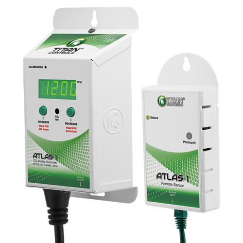 Titan Controls® Atlas® 1 - CO2 Monitor/Controller with Remote Sensor