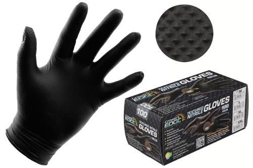 Grower's Edge® Black Diamond Textured Nitrile Gloves