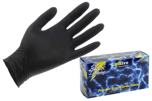 Black Lightning Powder Free Nitrile Gloves
