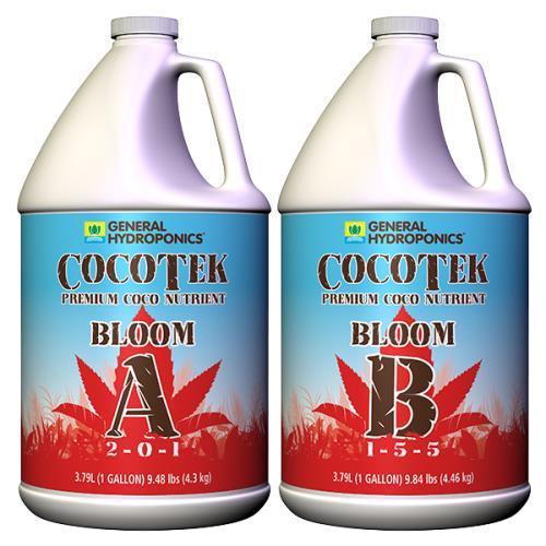 General Hydroponics® CocoTek® Bloom - A 2 - 0 - 1 & B 1 - 5 - 5