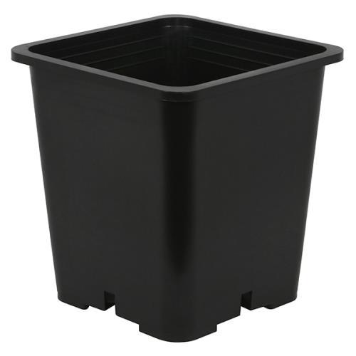 Gro Pro® Premium Square Black Plastic Pots