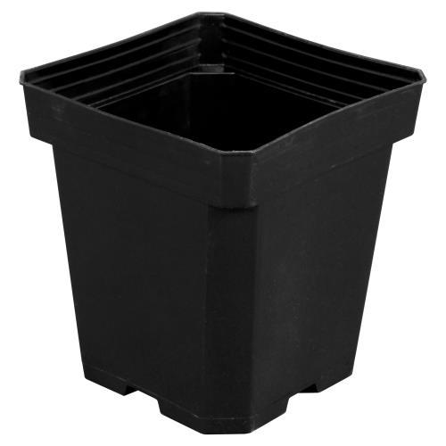 Gro Pro® Black Square Plastic Pots