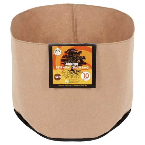 Gro Pro® Essential Round Fabric Pots - Tan