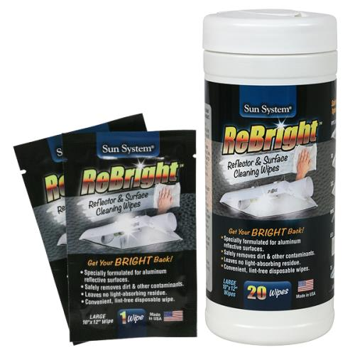 Sun System® ReBright® Reflector Cleaner Wipes