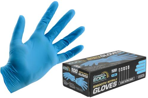 Grower's Edge® Light Blue Nitrile Gloves