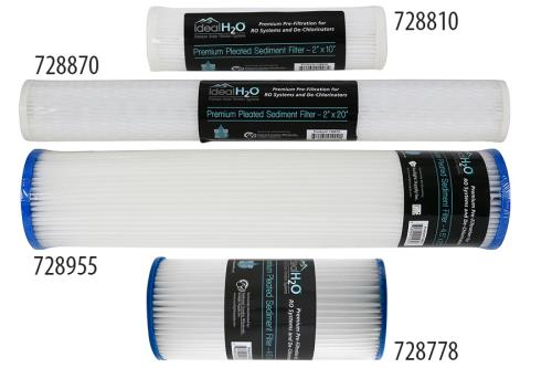 Ideal H2O® Premium Pleated Sediment Filters