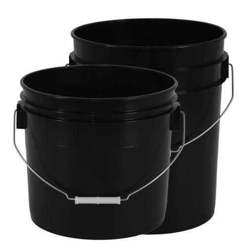 Gro Pro® Black Plastic Buckets