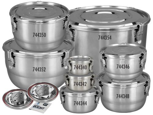 Harvest Keeper® HumiGuard® Clamp Sealing Stainless Steel Containers