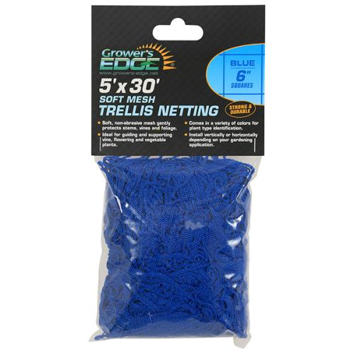 Grower's Edge® Blue Soft Mesh Trellis Netting with 6 in Squares