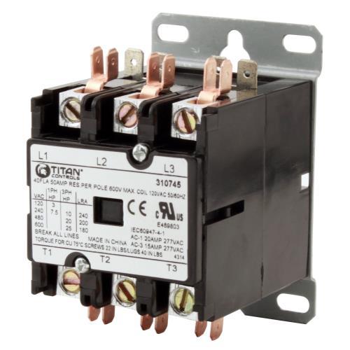 Titan Controls® 3P/120 Volt 50 Amp Relay