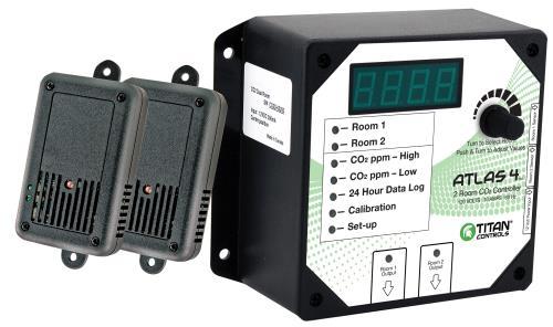Titan Controls® Atlas® 4 - 2 Room CO2 Monitor/Controller
