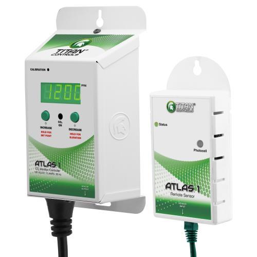Titan Controls® Atlas® 1 - CO2 Monitor/Controller with Remote Sensor
