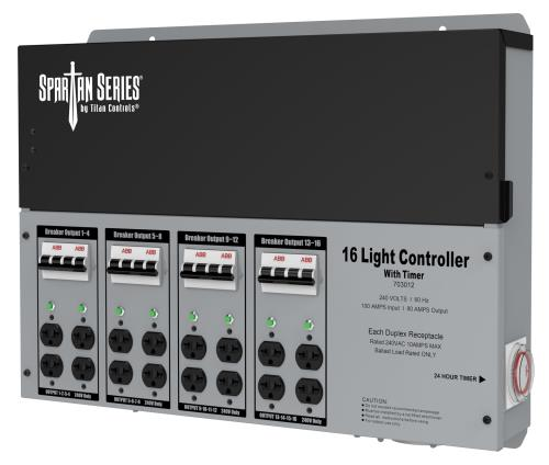 Titan Controls® Spartan Series® - Metal 16 Light 240 V Controllers