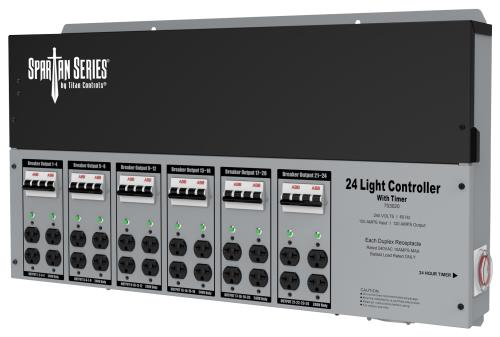 Titan Controls® Spartan Series® - Metal 24 Light 240 V Controllers