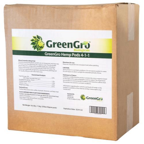 GreenGro™ Hemp Pods 4 - 1 - 1