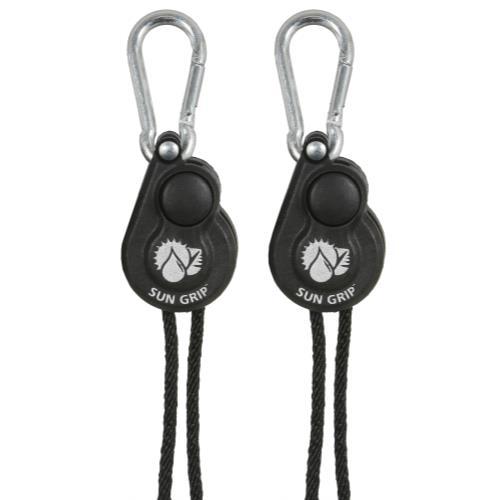 Sun Grip® Push Button Light Hangers 1/8 in - Black