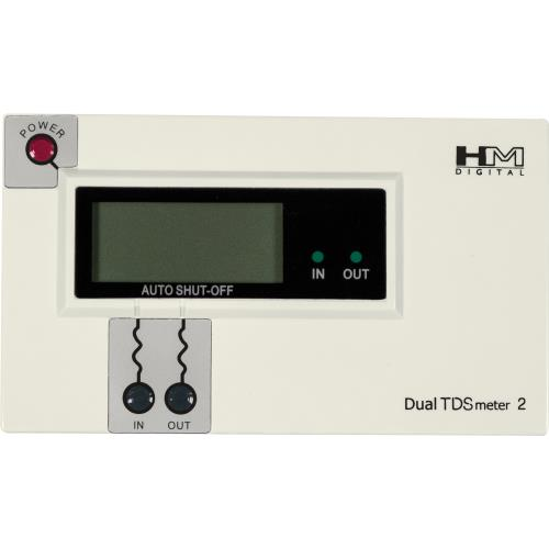 """Hydro-Logic TDS Pro White in/out PPM monitor with 1/2"""" in & 3/8"""" out"""