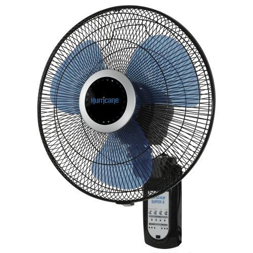 Hurricane® Super 8 Oscillating Digital Wall Mount Fan 16 in
