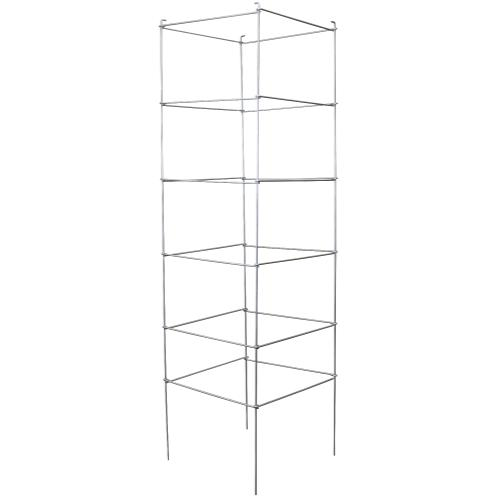 Grower's Edge® High Stakes® Commercial Grade Square Folding Tomato Cage 6 Tiers - 72 in
