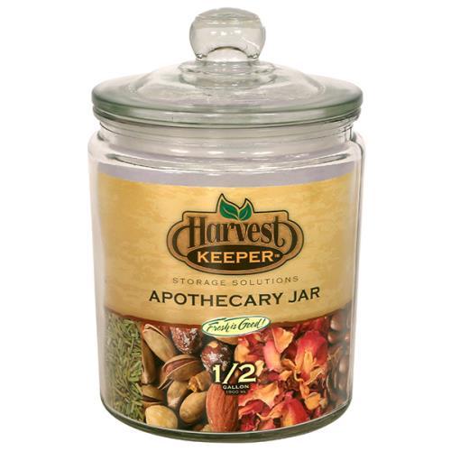 Harvest Keeper® Glass Storage Apothecary Jars w/ Sealed Lid