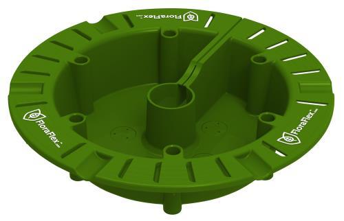 FloraFlex® Round Flood & Drip Shield with Quicker Drippers